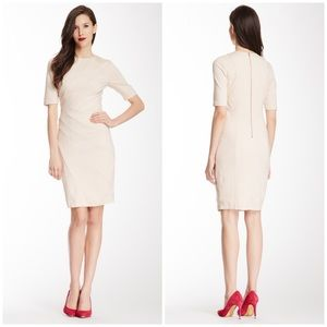 Ted Baker London Corie Silk Trim Dress Light Pink